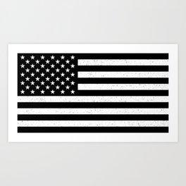 Textured US flag Art Print