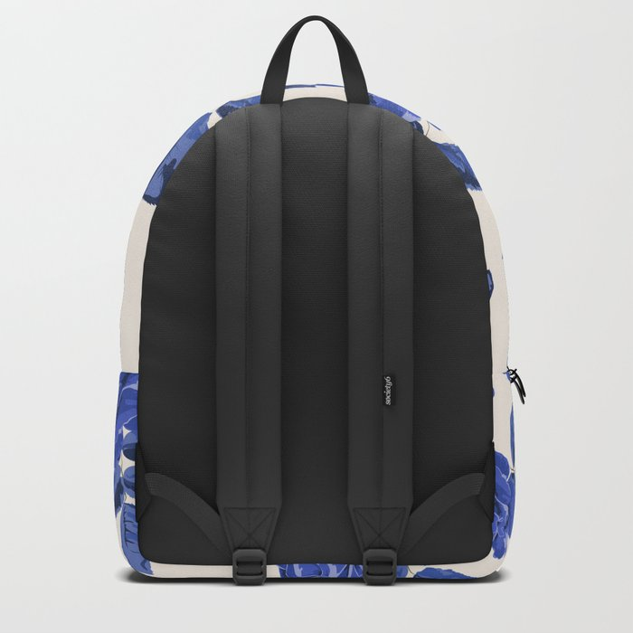 Seamless blue roses pattern Backpack