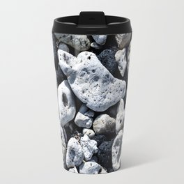 Black and White Rocks Mixed with Lava Rocks in Hawaii Travel Mug