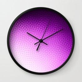 Purple Points Wall Clock