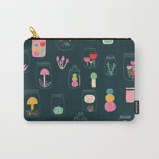 Happy terrarium pattern Carry-All Pouch