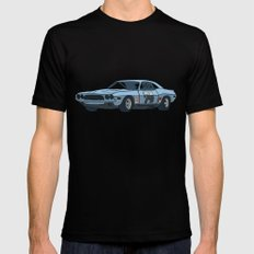 car Black LARGE Mens Fitted Tee