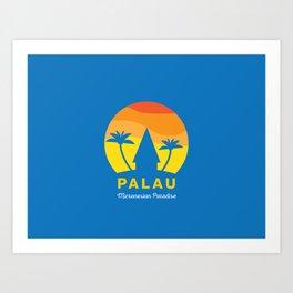 Palau illustrated poster Art Print