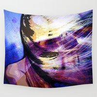 freedom Wall Tapestries featuring freedom by  Agostino Lo Coco