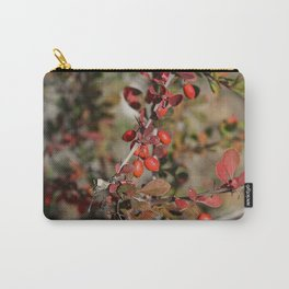 Red Barberry Fruits and Leaves Carry-All Pouch