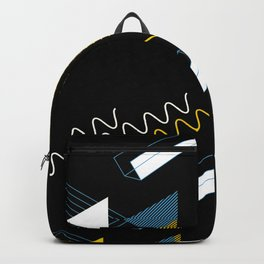 Geometric shapes artistic composition Backpack