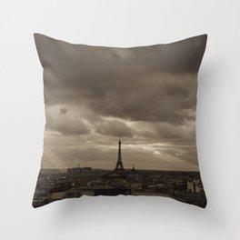 Rooftop view of Paris Throw Pillow