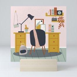 My workspace Mini Art Print
