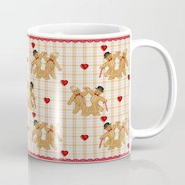 Gingerbread Family Country Plaid Christmas Coffee Mug