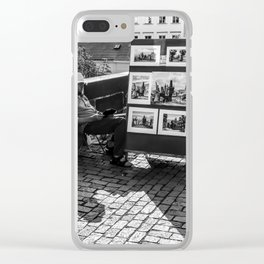 Resting Man With Sun Hat Clear iPhone Case
