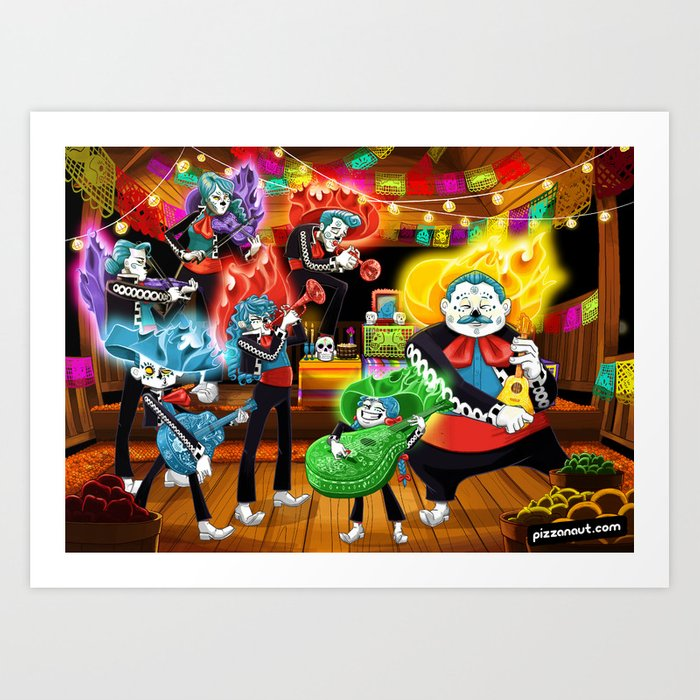 Curse of the Mariachi Art Print