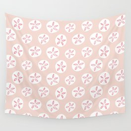Sand Dollars Sea Urchin in Blush Pink Wall Tapestry