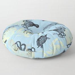 Vintage Sea Creatures Floor Pillow