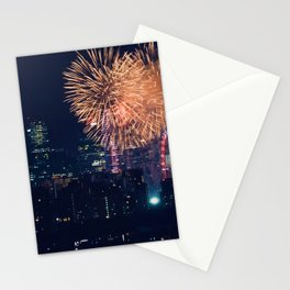 Fireworks in the City (Color) Stationery Cards