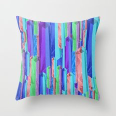 Crystal Towers Throw Pillow