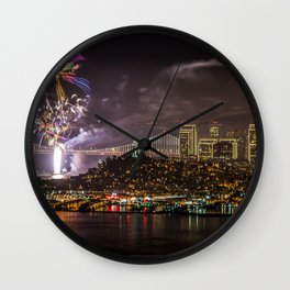 Fireworks in San Francisco Wall Clock