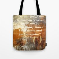 mandela Tote Bags featuring Mandela 2 by Shalisa Photography