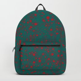 green darkness red spots Backpack