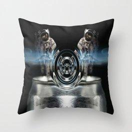 circle silver Throw Pillow