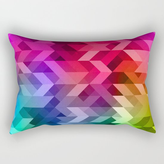 3d Retro  Rectangular Pillow
