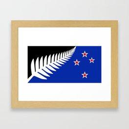 Proposed new national flag design for New Zealand Framed Art Print