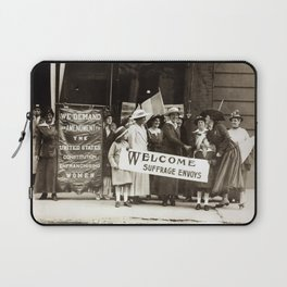 Suffrage Envoy Photograph (1915) Laptop Sleeve
