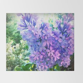 Lilacs in Bloom Throw Blanket