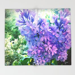 Lilacs in Bloom Throw Blanket