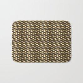 Grey Money Pattern Bath Mat