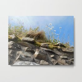 Flowers Upon a Castle Metal Print