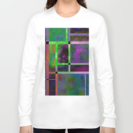 Pastel Textures - Abstract, pastel themed, geometric painting Long Sleeve T-shirt