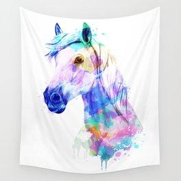Horse Watercolor, Horse Print, Watercolor Print, Watercolor Animal, Horse Painting, Horse Gift Print Wall Tapestry