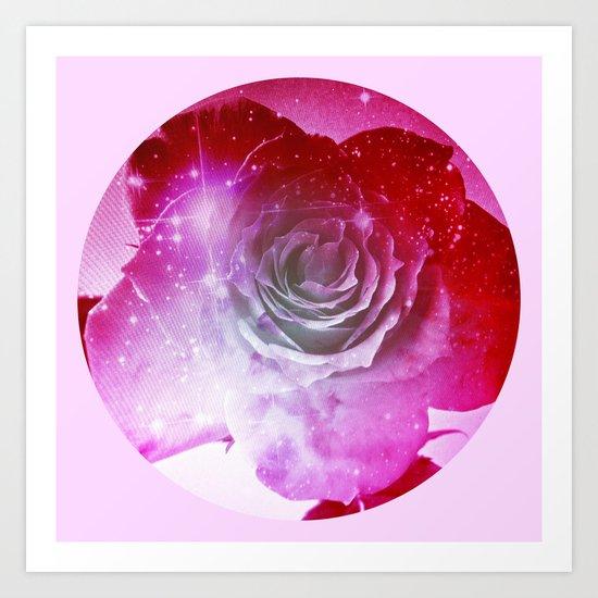Digital Rose of Cosmos Art Print