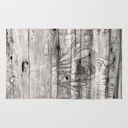 Vine Scars Wood Tree Trunk Pacific Northwest Rainforest Spooky Pattern Rug