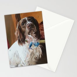 Maxwell And His Blue Bow Tie Stationery Cards