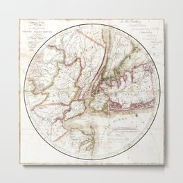 New York 1828 Metal Print