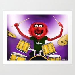 Animal Drummer Art Print