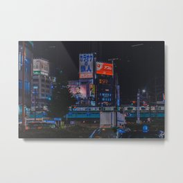 Tokyo feels : Shinjuku blue 5 Metal Print