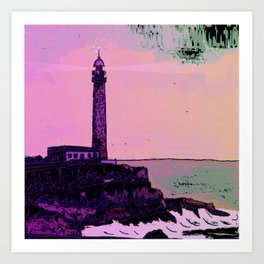 Golden Hours / Lighthouse Barlovento La Palma Art Print