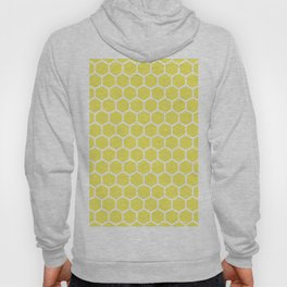 Summery Happy Yellow Honeycomb Pattern - MIX & MATCH Hoody