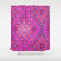 kilim Shower Curtains featuring Kilim 4 by EllaJo Design