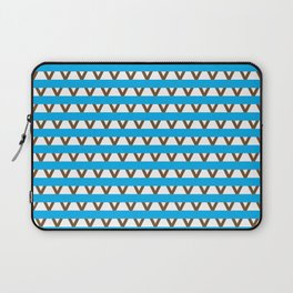 Paranoia (Baby Blue and Brown) Laptop Sleeve