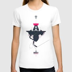 STEALTH:SR-71 Blackbird Womens Fitted Tee White X-LARGE