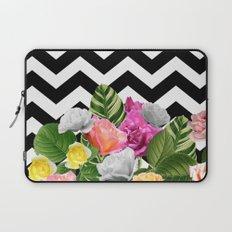 Chevron Floral Laptop Sleeve