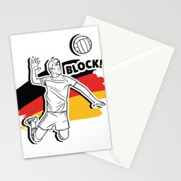 German Volleyball Man Stationery Cards