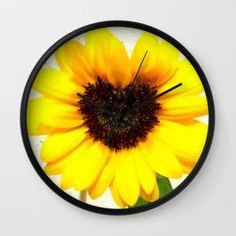 Heart shape Love Yellow sunflower Wall Clock