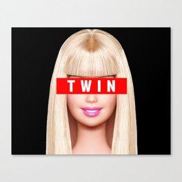 Big / Little Barbie (TWIN) Canvas Print