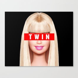 Big / Little Barbie (TWIN) Canvas Print