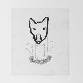 Wild woman Throw Blanket