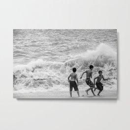 Boys at Sea Metal Print